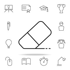 eraser icon. Education icons universal set for web and mobile