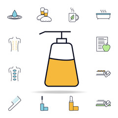 tube of oil outline icon. spa icons universal set for web and mobile