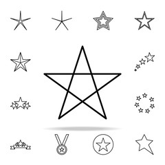 pentagram line icon. Web icons universal set for web and mobile