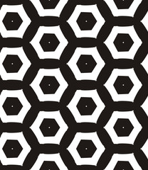 Honeycomb, seamless pattern. Repeating background with hexagons