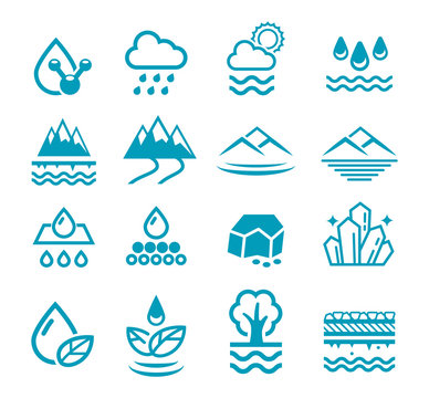 mineral water icon. Groundwater from the natural filter process.