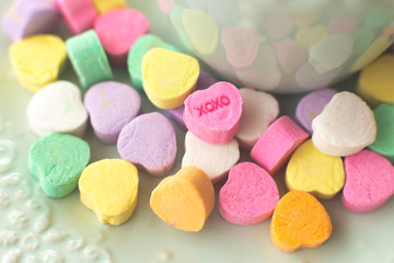 XOXO Valentine candy hearts