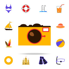 camera flat icon. Summer icons universal set for web and mobile