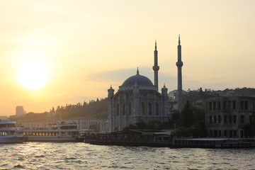 Ortakoy Mosque, The Great Mecidiye Mosque in İstanbul, Turkey