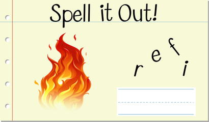 Spell it out fire