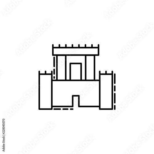 Solomon Temple Icon Element Of Jewish Icon For Mobile Concept And