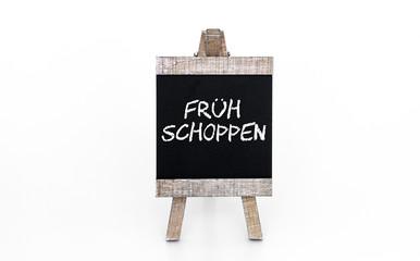 Frühschoppen Hinweistafel