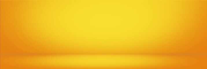 Yellow gradient wall and empty studio room background Wall mural