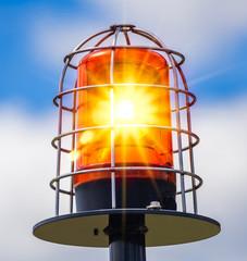 Rundumleuchte orange leuchtet alarm