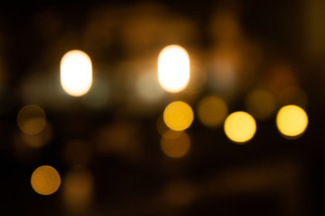 blurred bokeh background , night light colorful .
