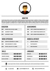A4 curriculum vitae / resume design template vector.
