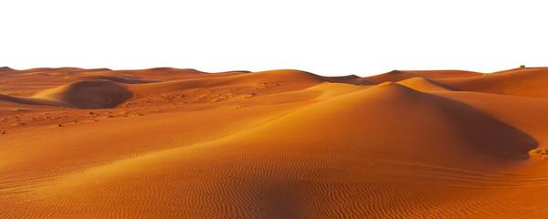 Wall Murals Desert desert sand and dunes isolated on white background