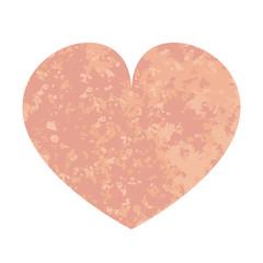 Pink heart. Vector illustration. Valentines day Grunge texture
