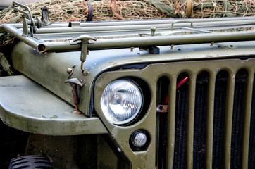 Old military car.
