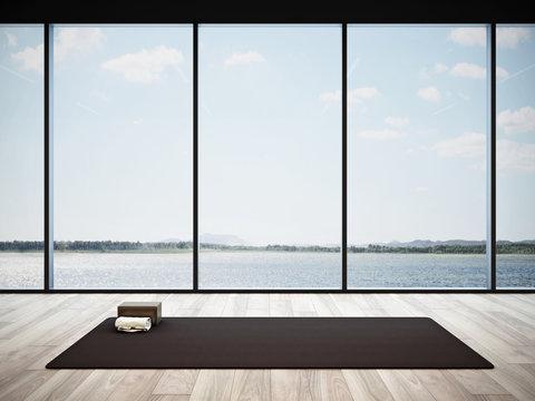 Yoga studio interior #3, 3D render