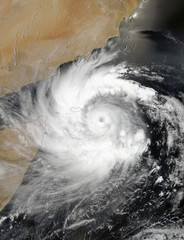 Tropical Cyclone Mekunu. Elements of this image are furnished by NASA.