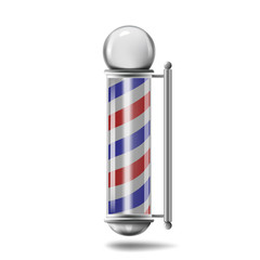 Barber pole isolated