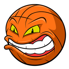 Anger basketball ball