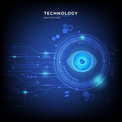 Abstract digital technology hi tech concept background with modern style. vector illustration.