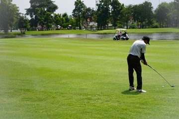 Golf is a sport that requires hard work.