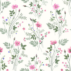 seamless floral pattren with rose bouquet