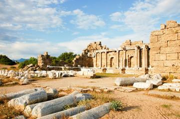 Ruins forum in Turkey city Side