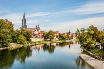 Panorama view of Ulm, Germany