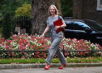 Britain's Chief Secretary to the Treasury Liz Truss arrives in Downing Street, London