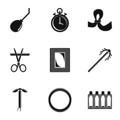 Type contraception icon set. Simple set of 9 type contraception vector icons for web design on white background