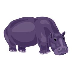 Hippopotamus icon. Cartoon of hippopotamus vector icon for web design isolated on white background