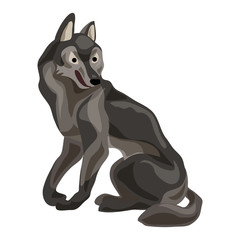 Forest wolf icon. Cartoon of forest wolf vector icon for web design isolated on white background