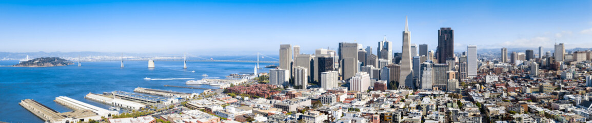 San Francisco Skyline Banner als Hintergrund