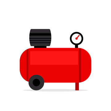 Air compressor icon. Clipart image isolated on white background