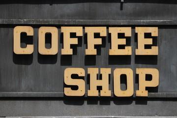 Vintage Coffee Shop Sign