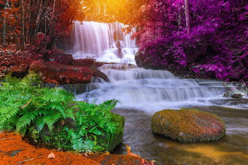 beautiful waterfall in rainforest at phu tub berk mountain  phetchabun, Thailand (Mun Dang waterfalls)