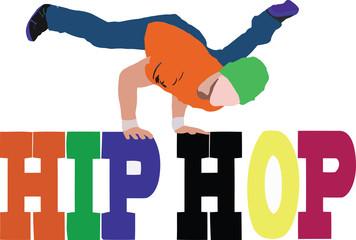 hip hop ballo di strada ballerino su scritta