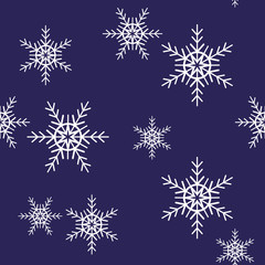 Seamless pattern with snowflakes. Vintage winter background. Christmas collection.