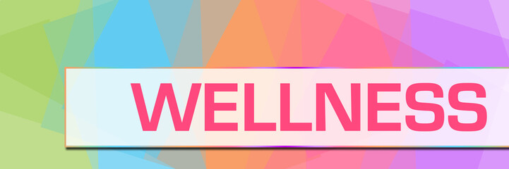 Wellness Colorful Abstract Background Horizontal