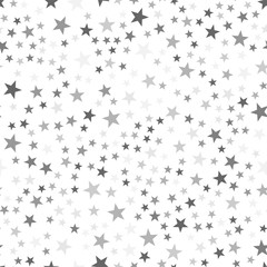 Black and white seamless stars seamless texture. Festive, luxury or network graphic design concept. Vector illustration