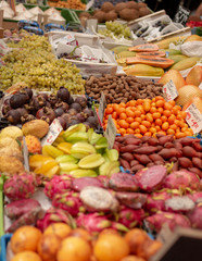 Fresh fruits and vegetables at local market in Vienna - Austria