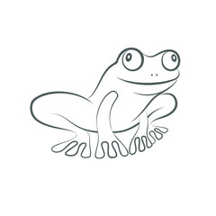 Icon frog. Flat symbol frog. Isolated sign frog on white background. Logo. Vector Illustration