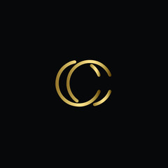 Creative Solid Minimal Letter CC Logo Design In vector Format