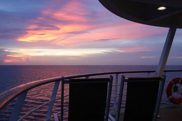 Cruise, Cruise Ship, Sunrise, Caribbean