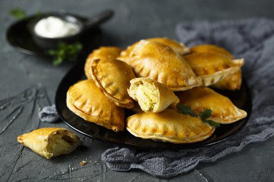 Homemade savory hand pies