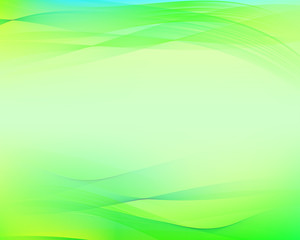 Green wavy abstract background.