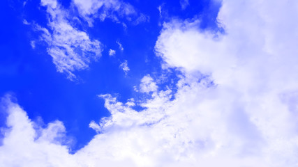 blue sky with clouds isolated nature background