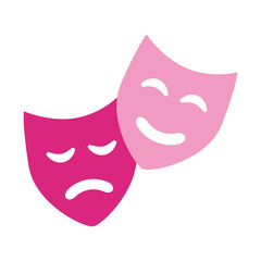 comedy drama masks theater symbol