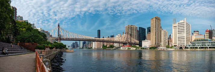 Queensboro Bridge and Manhattan city, New York