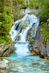 Small waterfall in the austrian alps