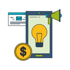 smartphone idea creativity email advertising money business